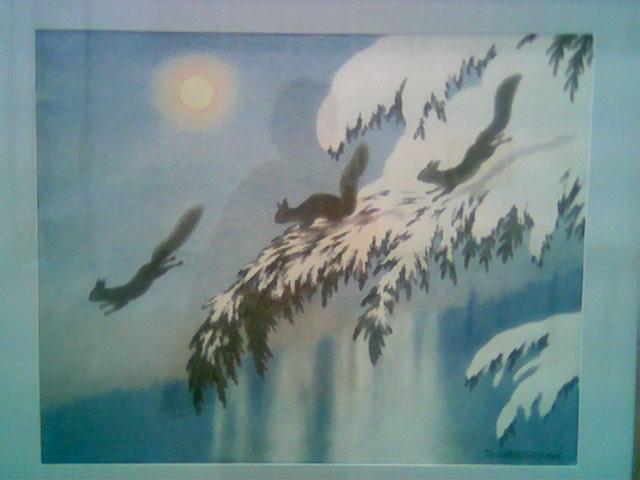 Kittelsens 'Vinterkveld (Ekorn som flyr)', 1905