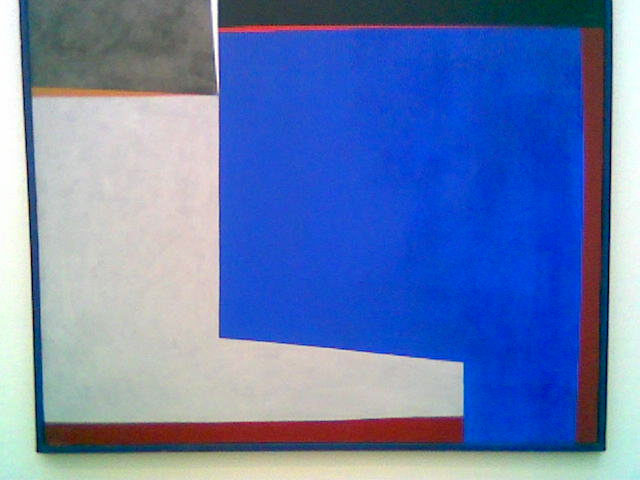 Lars Tiller (1924-94), Blått med rødt (1971) Et bilde som tidlig farget mitt estetiske blikk