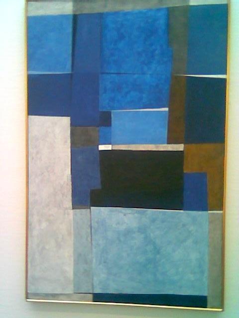Lars Tiller (1924-94), Fuge i blått, 1978-79