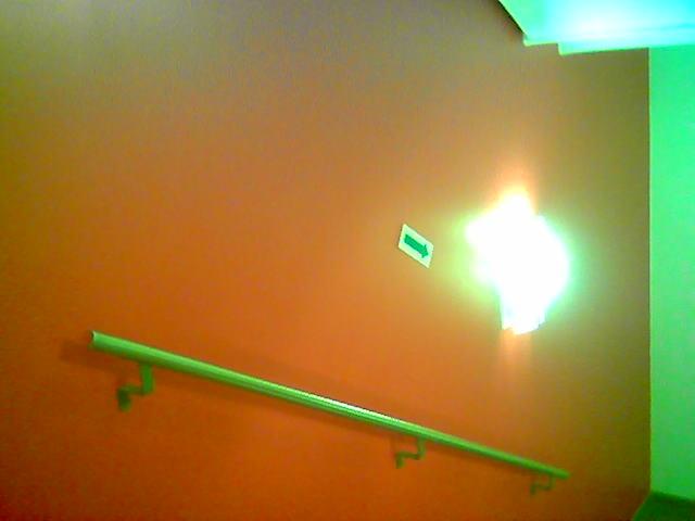 Farvesterkt trappehus :: Lenke til egen side med bilder fra hotellet Scandic Nedre Elvehavn