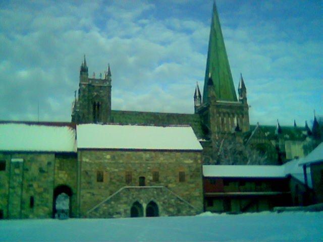 Erkebispegården og Domkirken, b