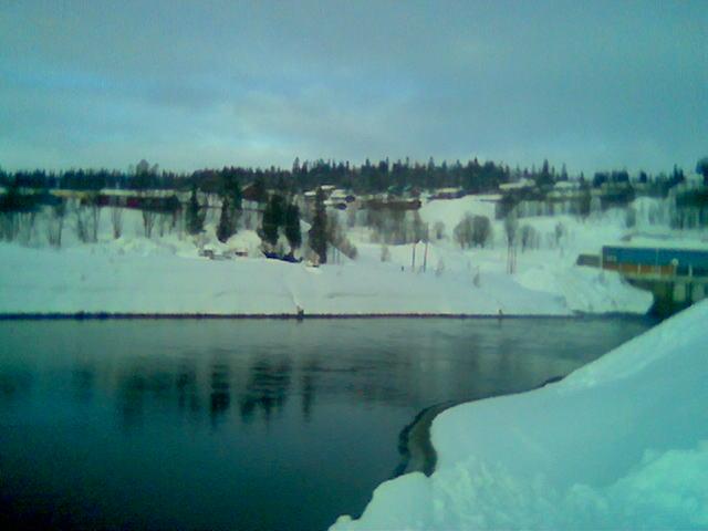Limingen sentrum, Røyrvik, boligfeltet. Ultimo februar, medio norsk