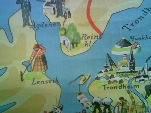 Bak riva til budeia i Lensvika, ligger Utnes-vatnet (Åge Utnes, get it?)