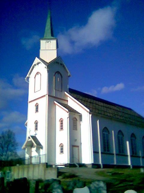 Beitstad kirke. Her ble jeg døpt i november 1959