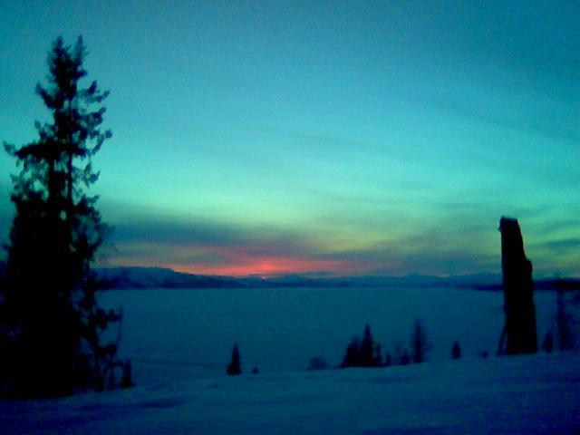 Solnedgang over Limingen, B