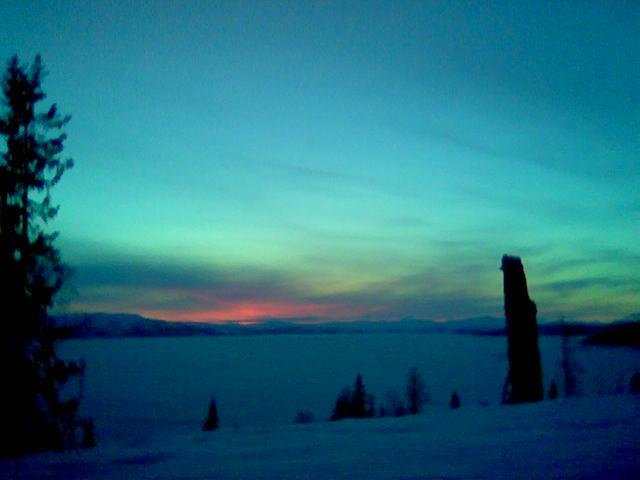 Solnedgang over Limingen, C