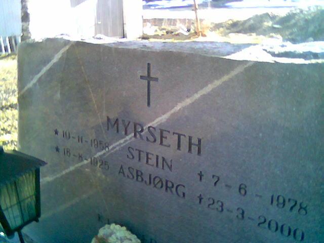 Min mangeårige bestevenn Stein Myrseth ligger på Beitstad kirkegård