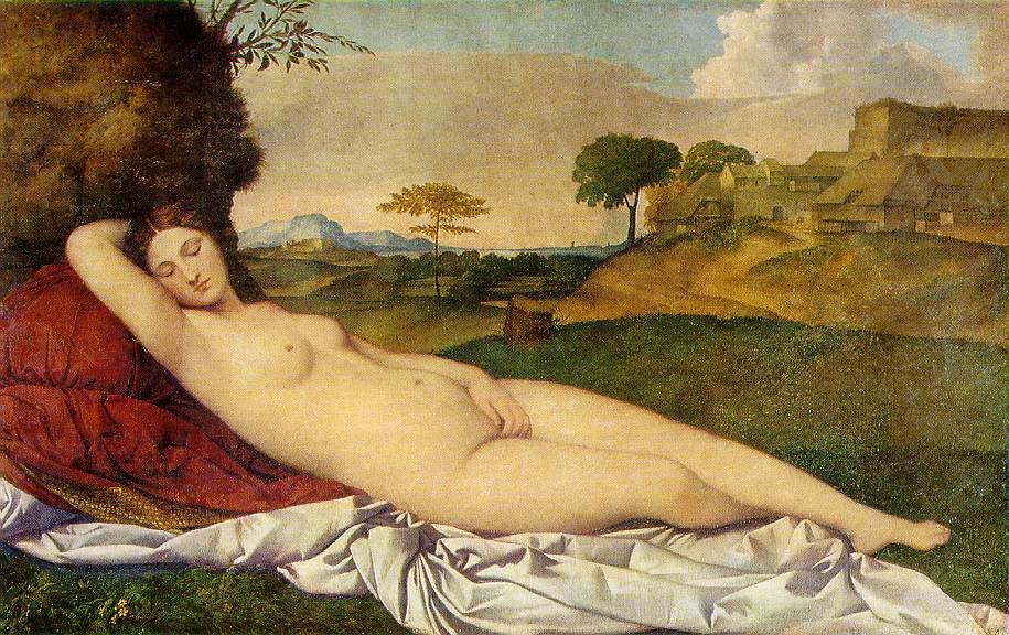 'Venus Dormida' av Giorgio da Castelfranco (1508-1510)
