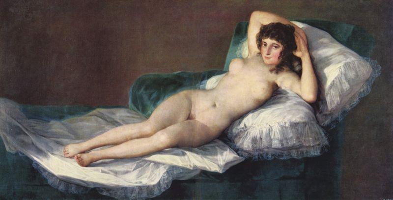 Francisco de Goya y Lucientes (1746-1828) 'Den nakne Maja' (1803) Klikk for større bilde!