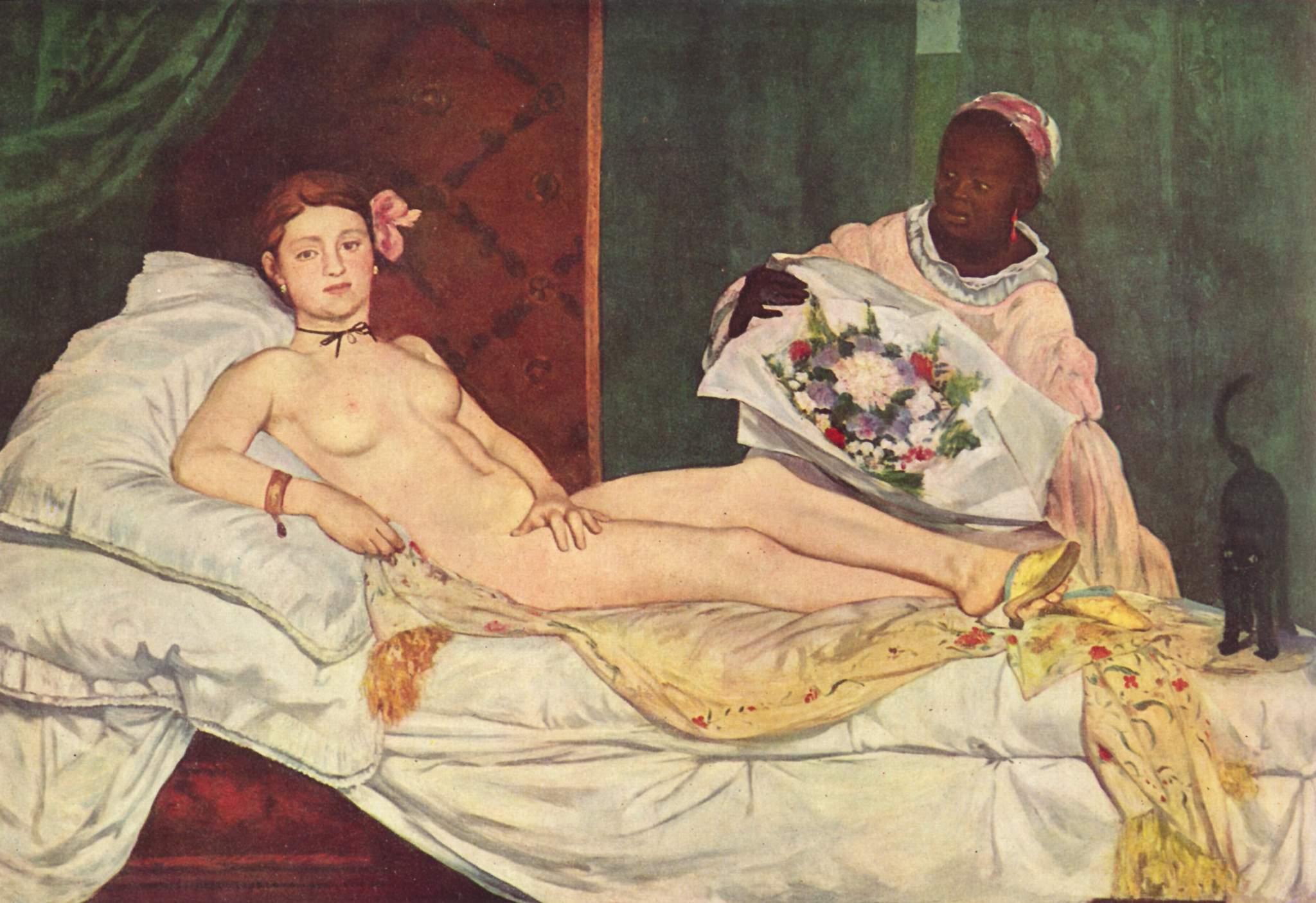 * Foto av måleriet Olympia, måla av Edouard Manet i 1866