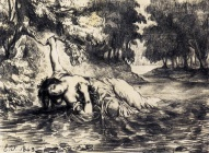The Death Of Ophelia, 1843, Ferdinand Victor Eugène Delacroix (1798-1863) There is a larger image available through clicking!