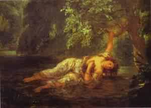 The Death Of Ophelia, 1853, Ferdinand Victor Eugène Delacroix (1798-1863)