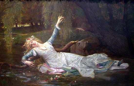 Ophelia, 1883, Alexandre Cabanel (1823-89)