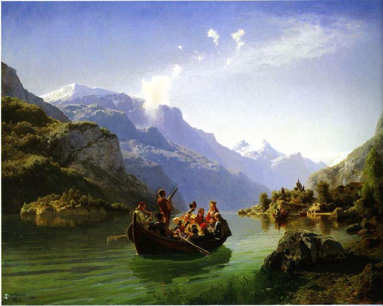 1848-versjonen av Tidemand og Gudes 'Brudeferd i Hardanger'