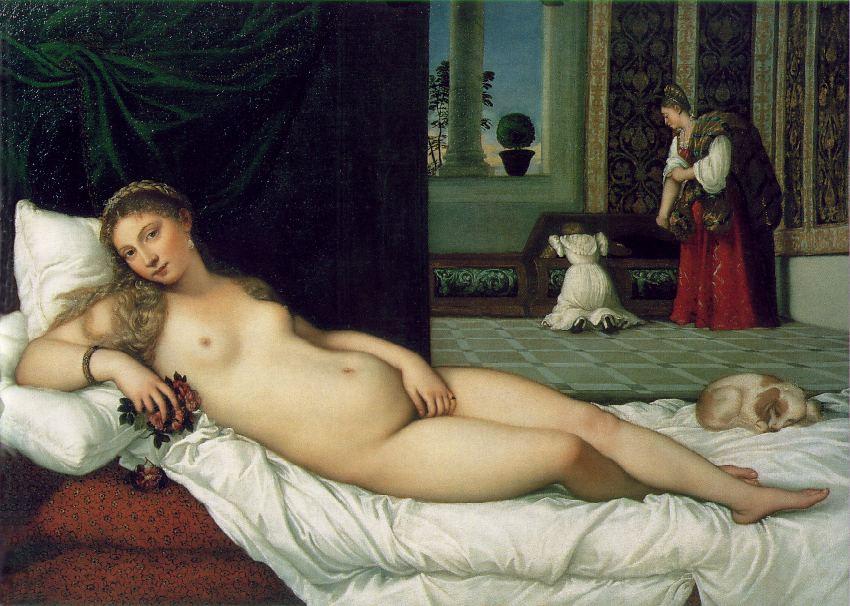 * Foto av måleriet Venus frå Urbino, måla av Tizian i 1538